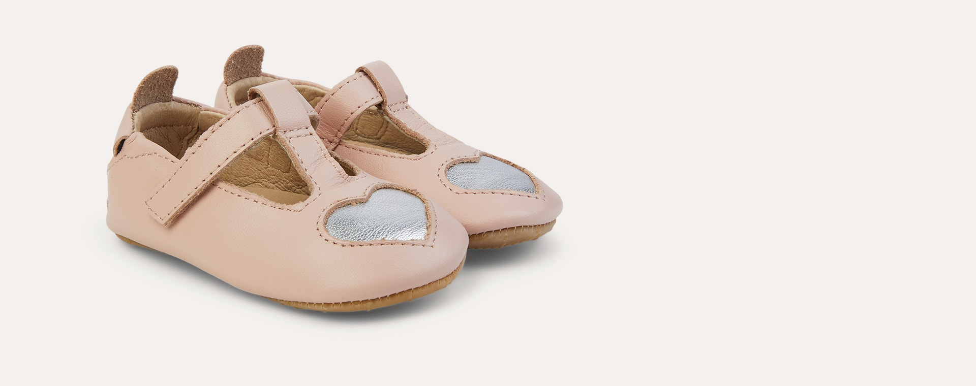 Powder Pink/ Silver old soles Ohme-Heart