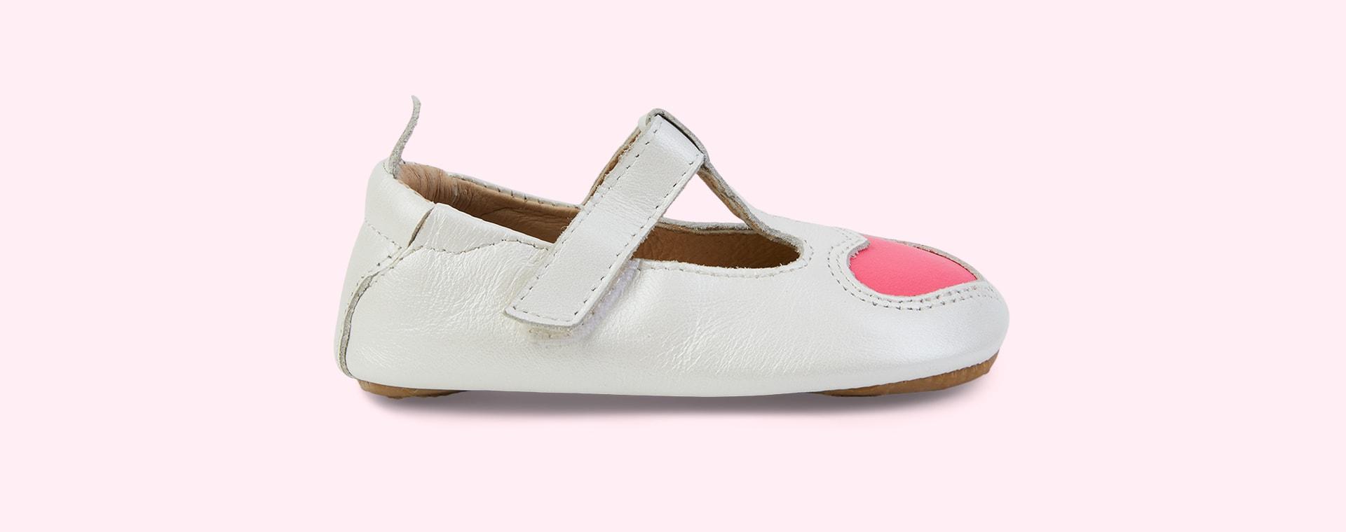 Nacardo Blanco/Neon Pink old soles Ohme-Heart
