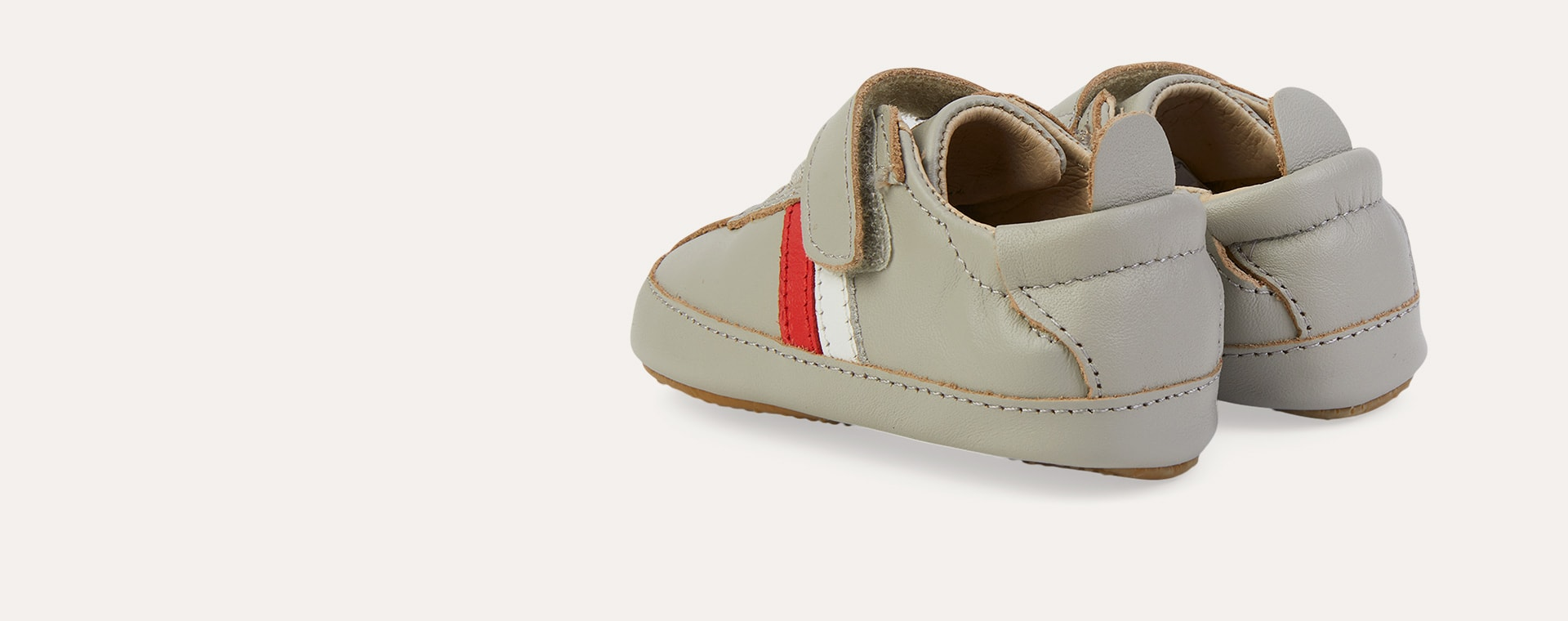 Gris/Snow/Bright Red old soles Rework Shoe