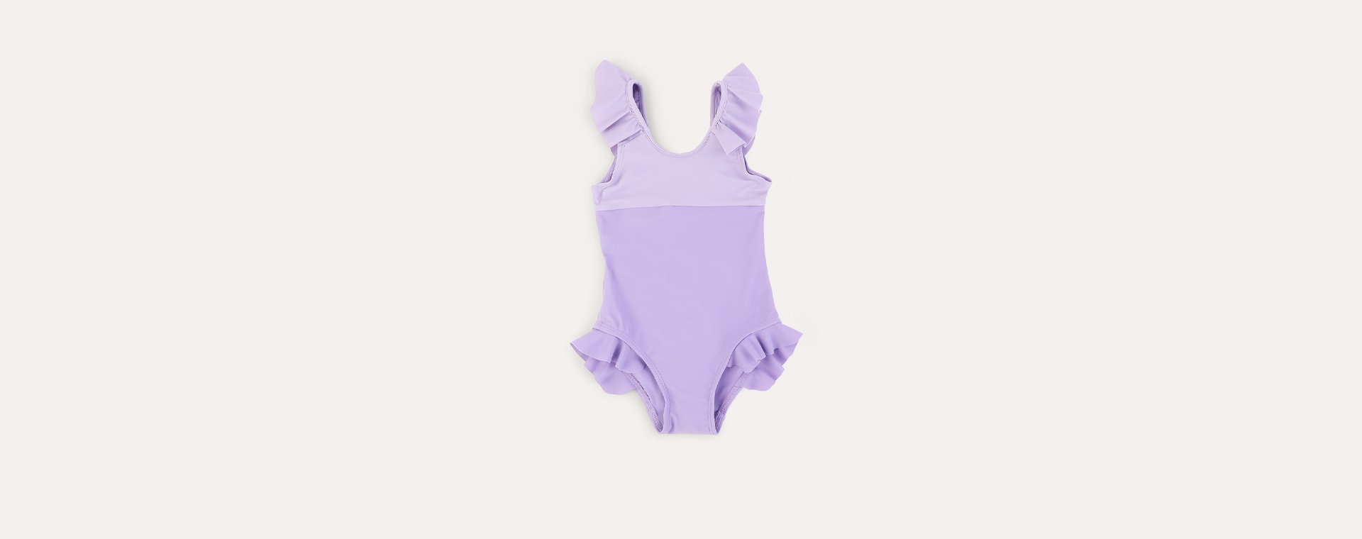 Lilac KIDLY Label Recycled Frill Swimsuit
