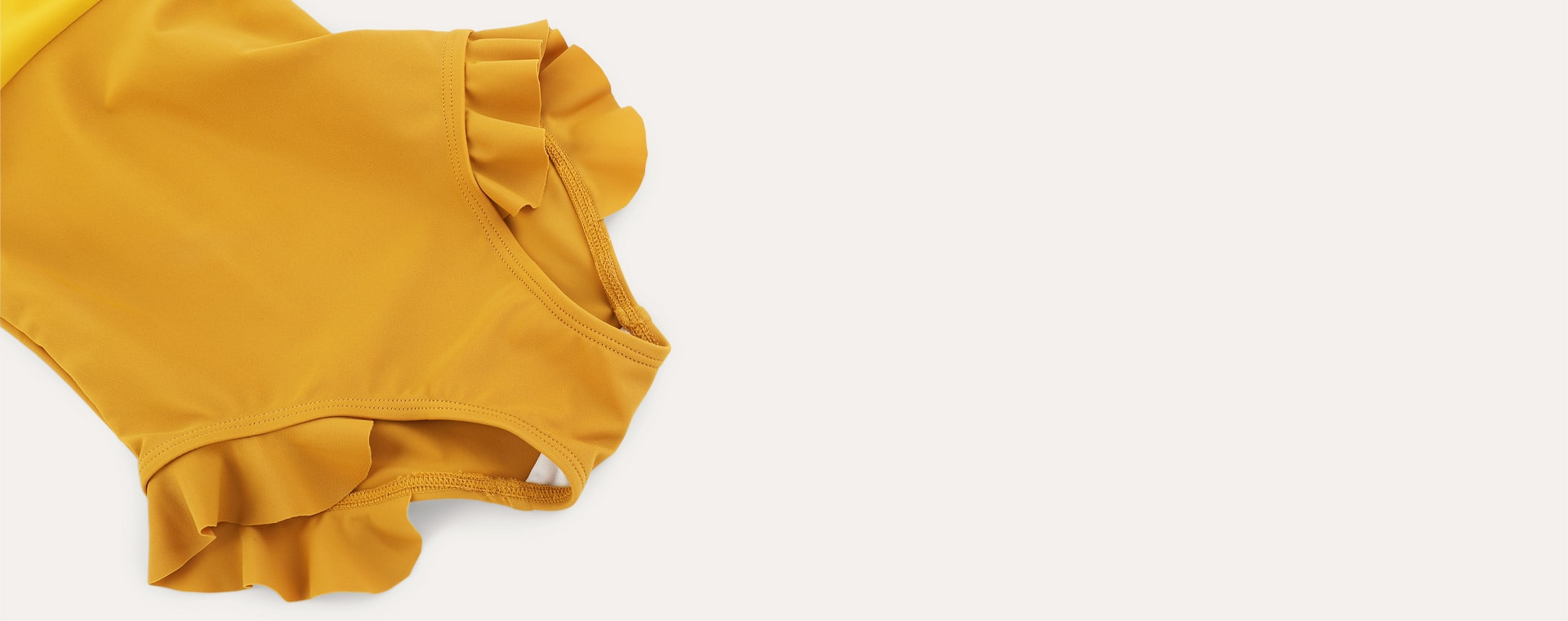 Mustard KIDLY Label Recycled Frill Swimsuit