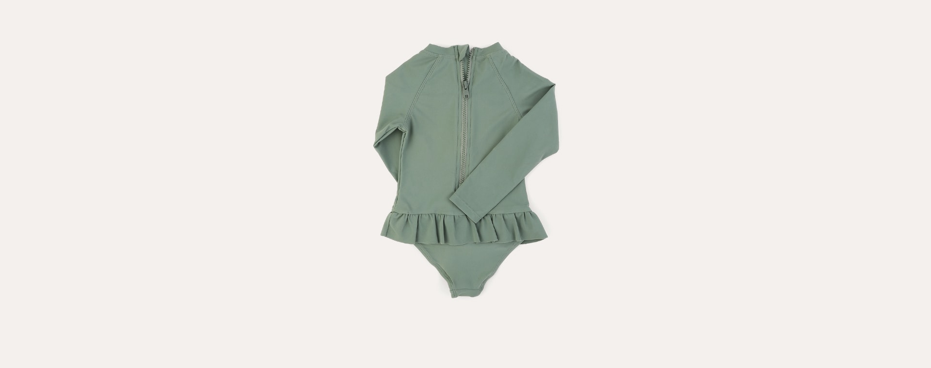 Olive KIDLY Label Recycled Long Sleeve Swimsuit