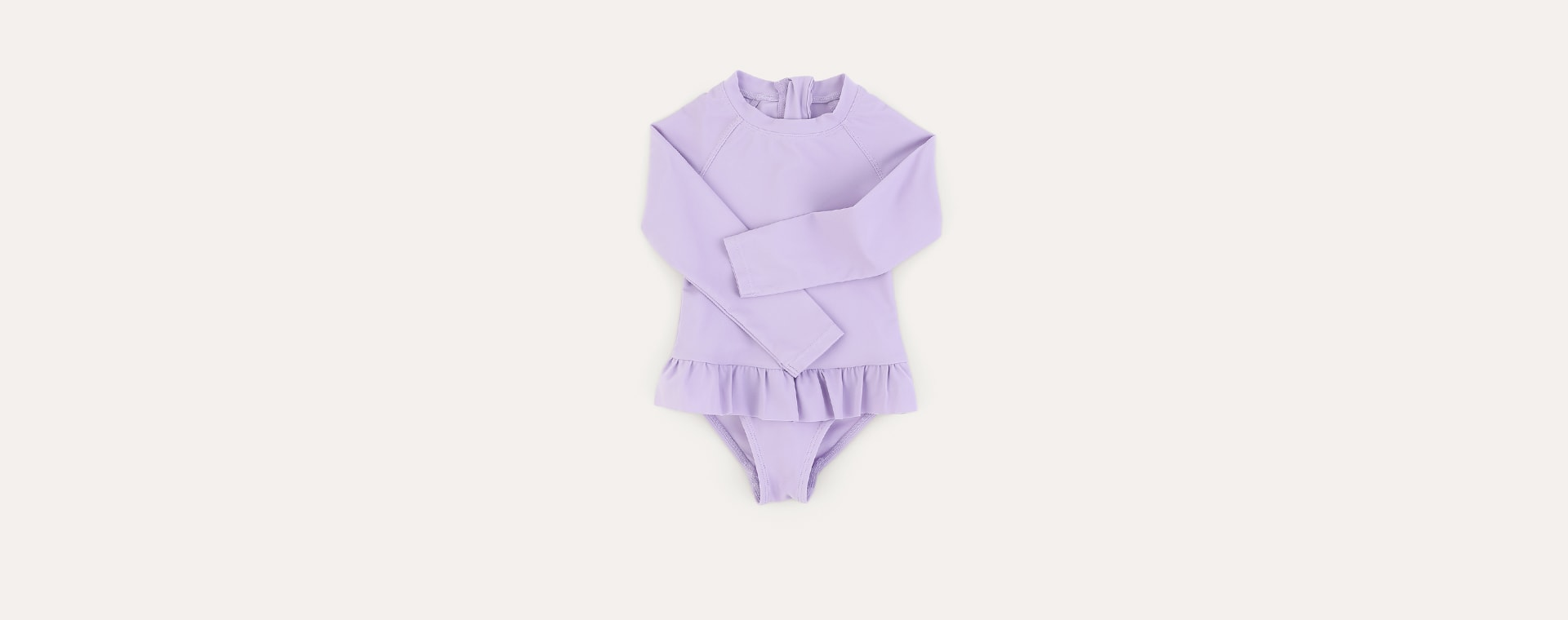 Lilac KIDLY Label Recycled Long Sleeve Swimsuit