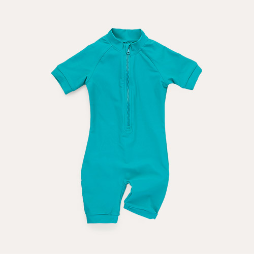 Teal KIDLY Label Recycled Sun Suit