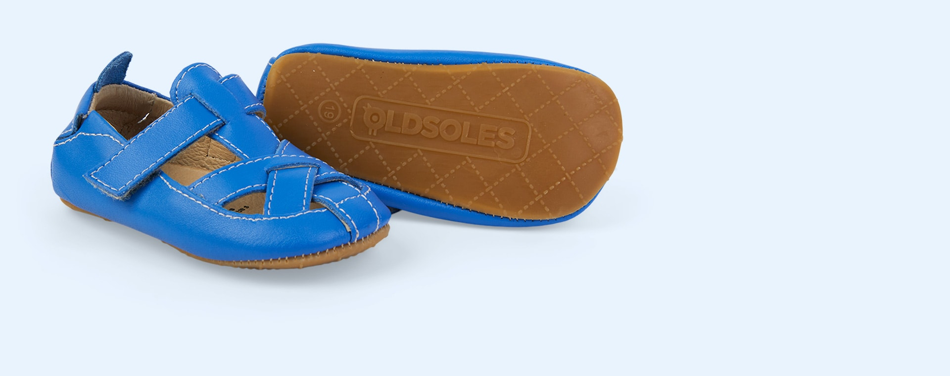 Neon Blue old soles Thread Shoe