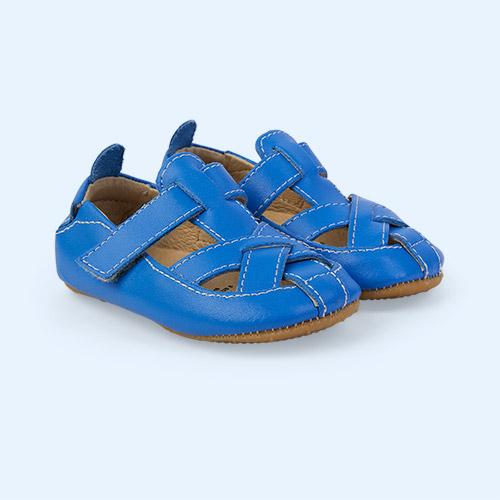 Neon Blue old soles Thread Shoe