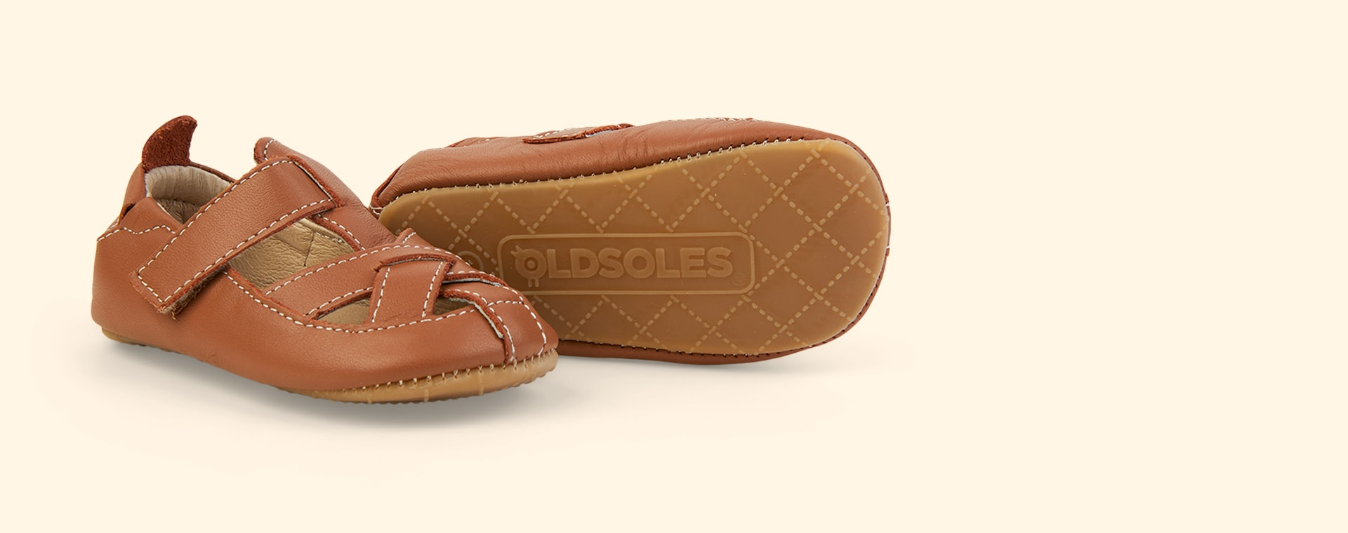 Tan old soles Thread Shoe