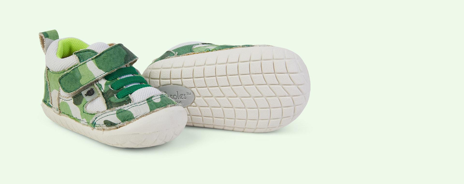 Field Camo/White/ Neon Green old soles Bru Pave