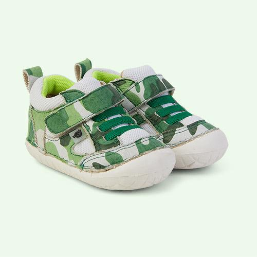 Field Camo/White/ Neon Green