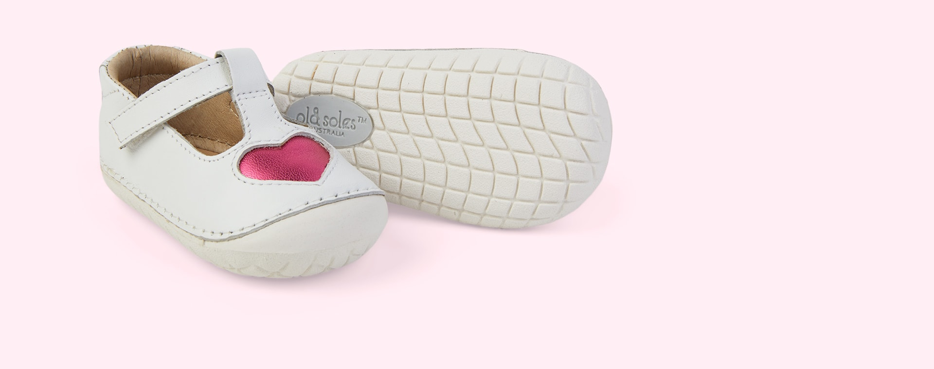Snow/ Fuchsia old soles Pave Love