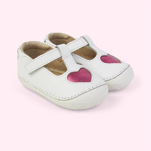 Snow/ Fuchsia old soles Pave Love