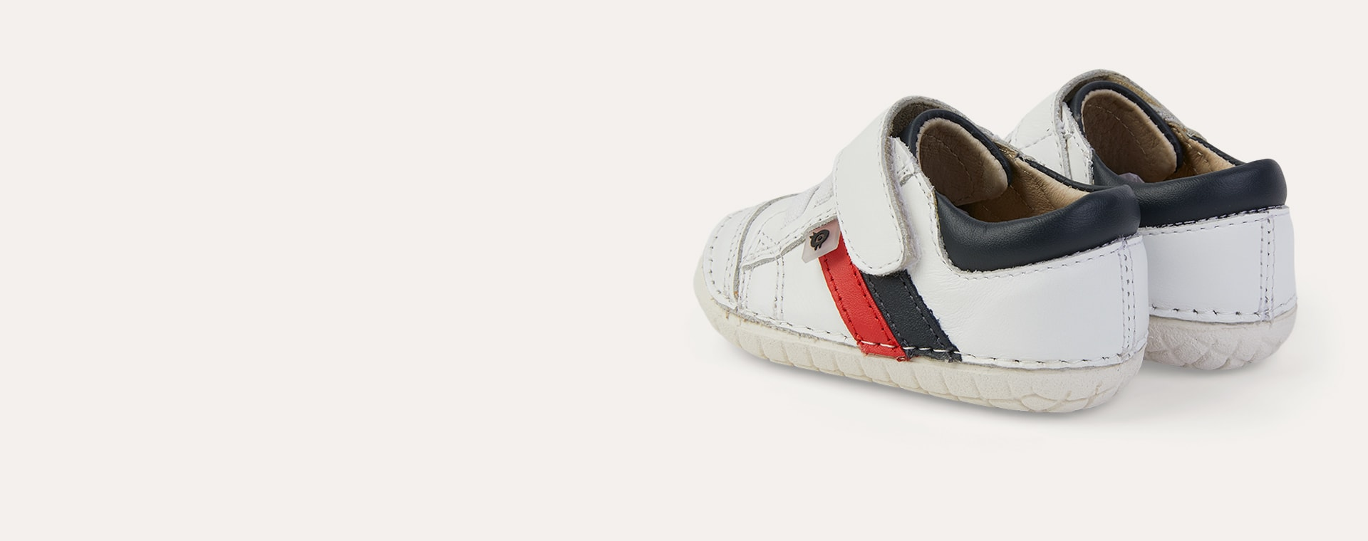 Snow/ Navy/ Bright Red old soles Shield Pave