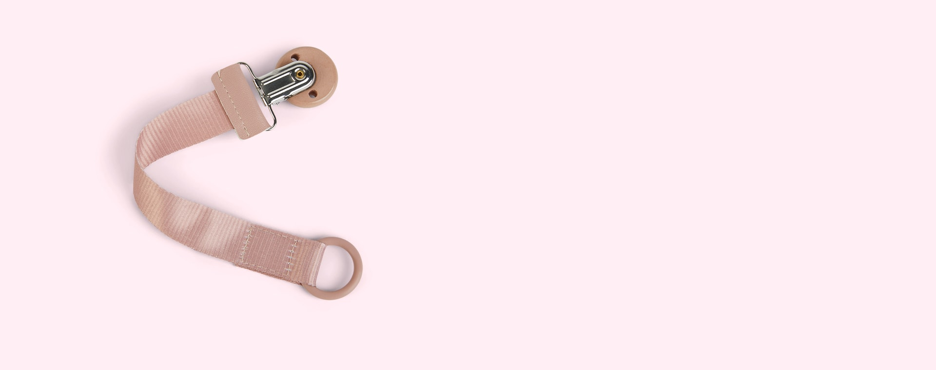 Faded Rose Elodie Wood Soother Clip