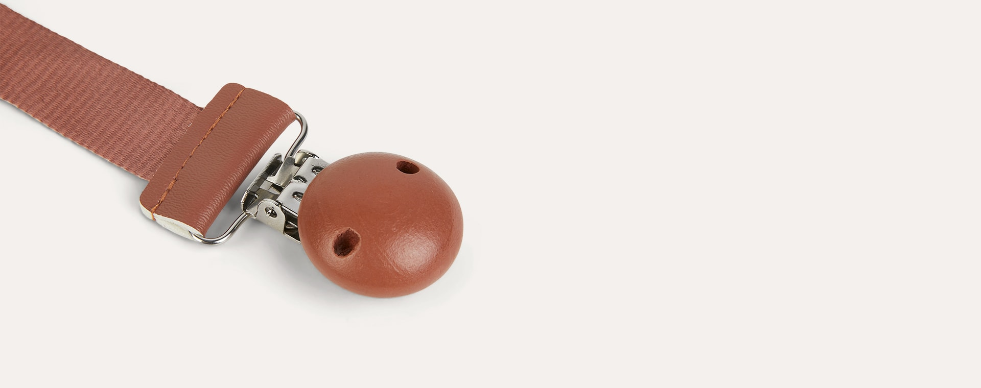 Burned Clay Elodie Wood Soother Clip