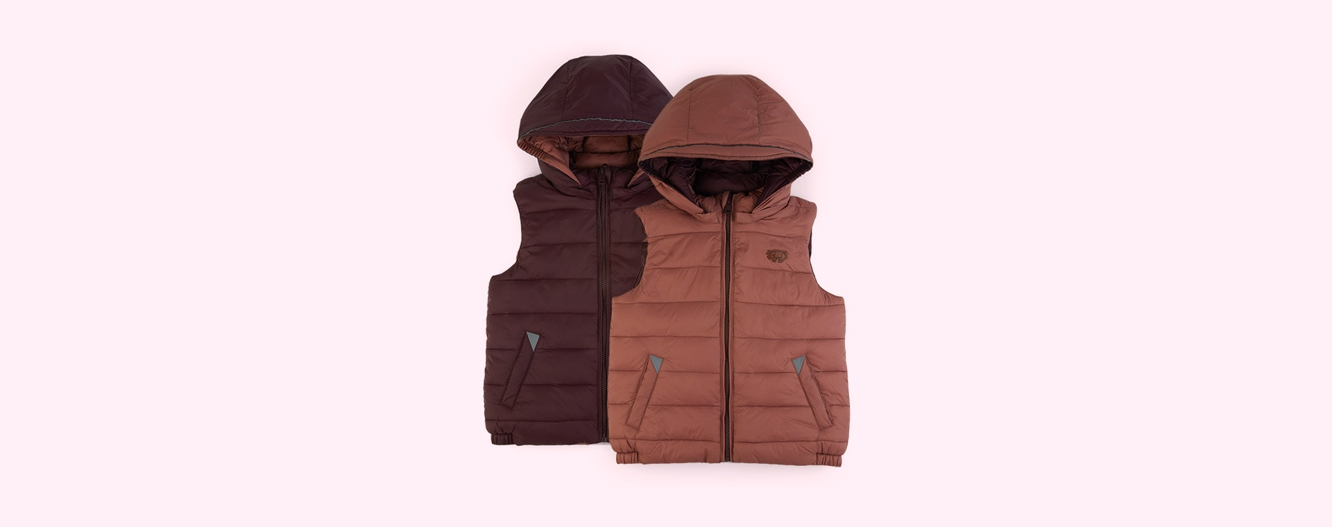 Black Cherry / Rose Pink Töastie Kids Eco Reversible Gilet