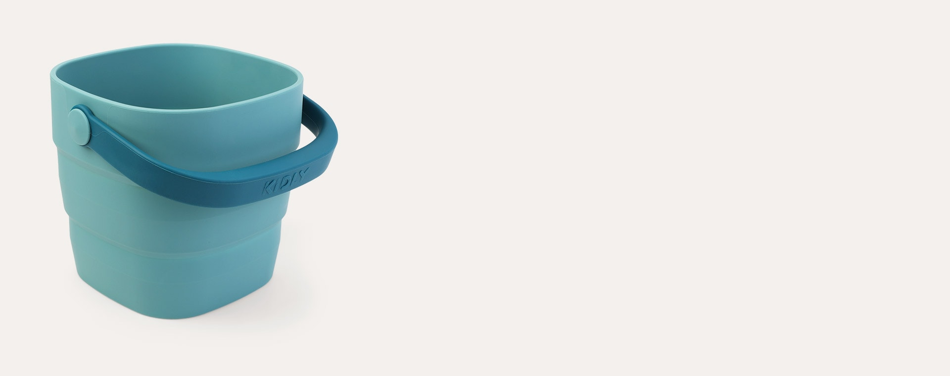 Teal KIDLY Label Foldaway Bucket & Spade Set
