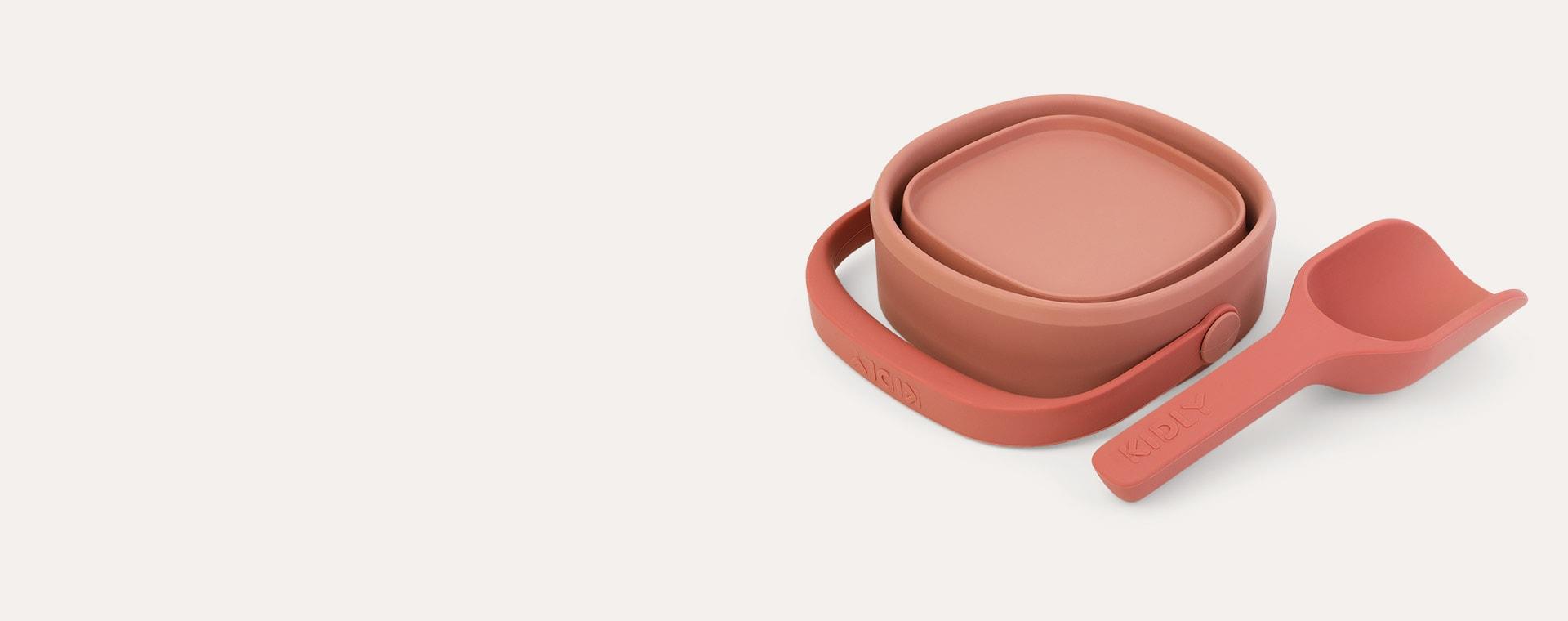 Coral KIDLY Label Foldaway Bucket & Spade Set
