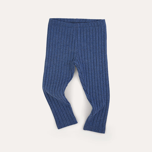 Indigo KIDLY Label Brushed Ribbed Legging