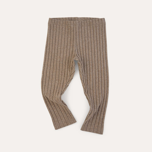 Mink KIDLY Label Brushed Ribbed Legging