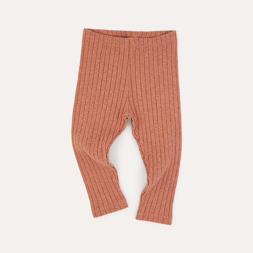 Sepia KIDLY Label Brushed Ribbed Legging
