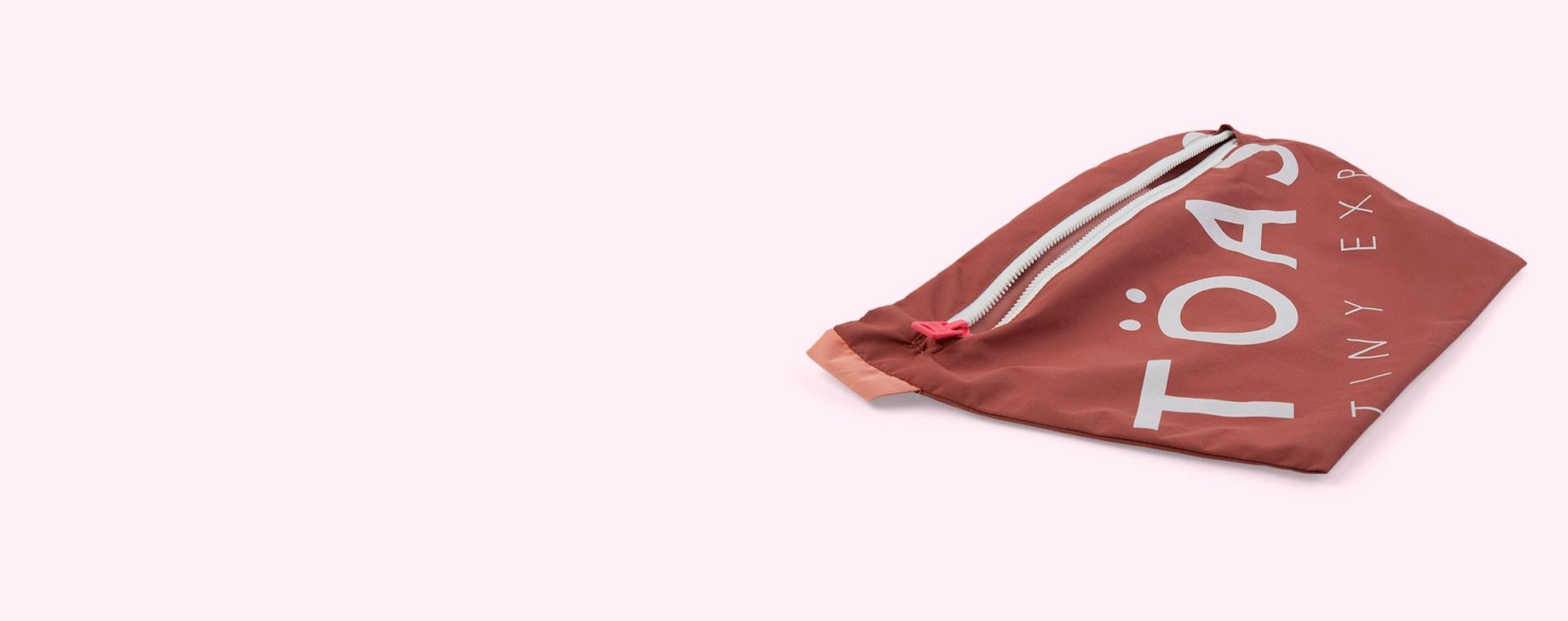 Rose Pink / Peach Töastie Kids FeatherLite Pac-a-Mac