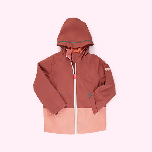Rose Pink / Peach Töastie Kids FeatherLite Pac-a-Mac
