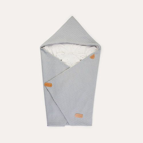 Light Grey Star Voksi Baby Wrap Blanket