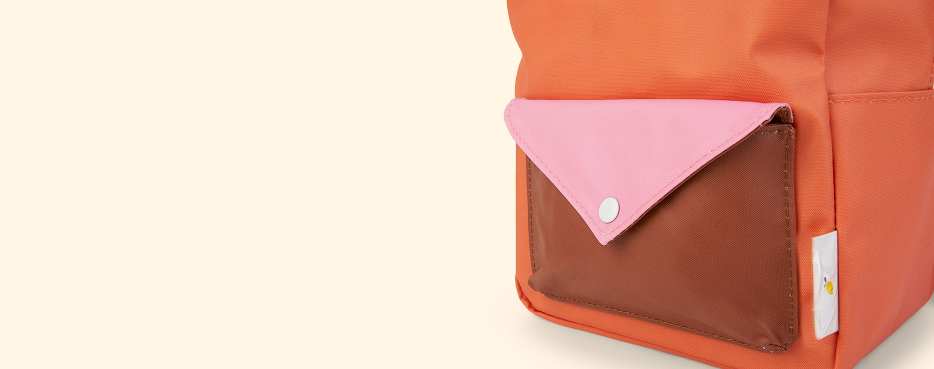 Carrot Orange, Bubbly Pink  and Syrup Brown Sticky Lemon Small Backpack With Envelope Pocket