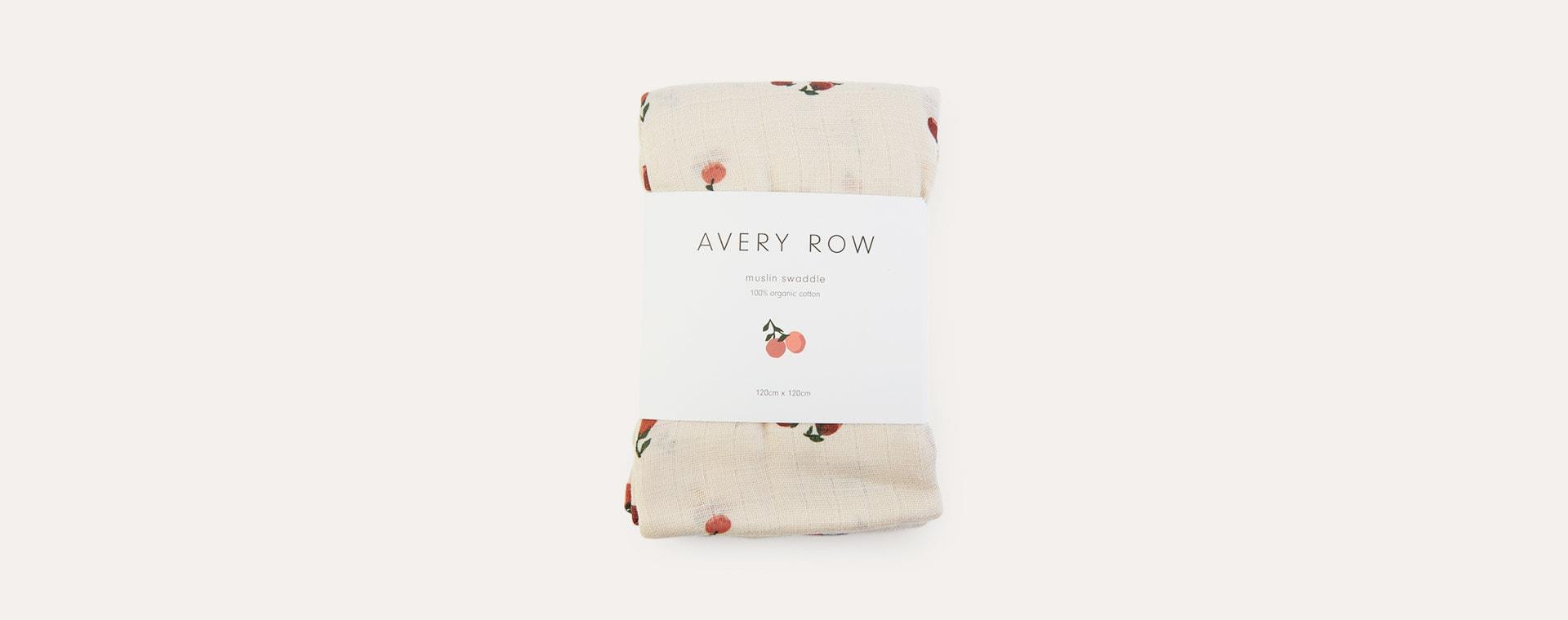 Peaches Avery Row Organic Muslin Swaddle