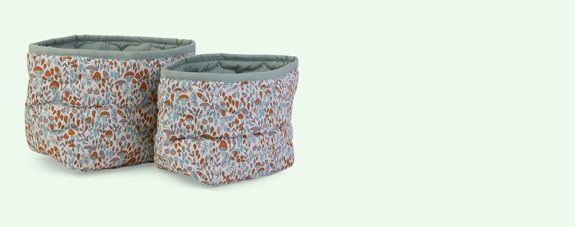 Woodland Walk Avery Row Quilted Reversible Storage Baskets 2-Pack