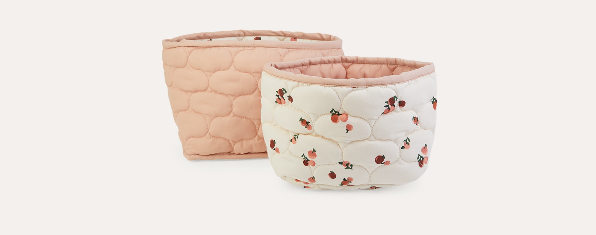 Peaches Avery Row Set Of 2 Storage Baskets