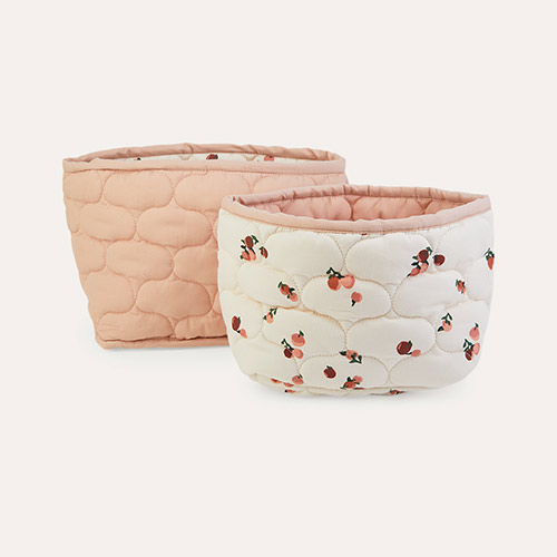 Peaches Avery Row Quilted Reversible Storage Baskets 2-Pack