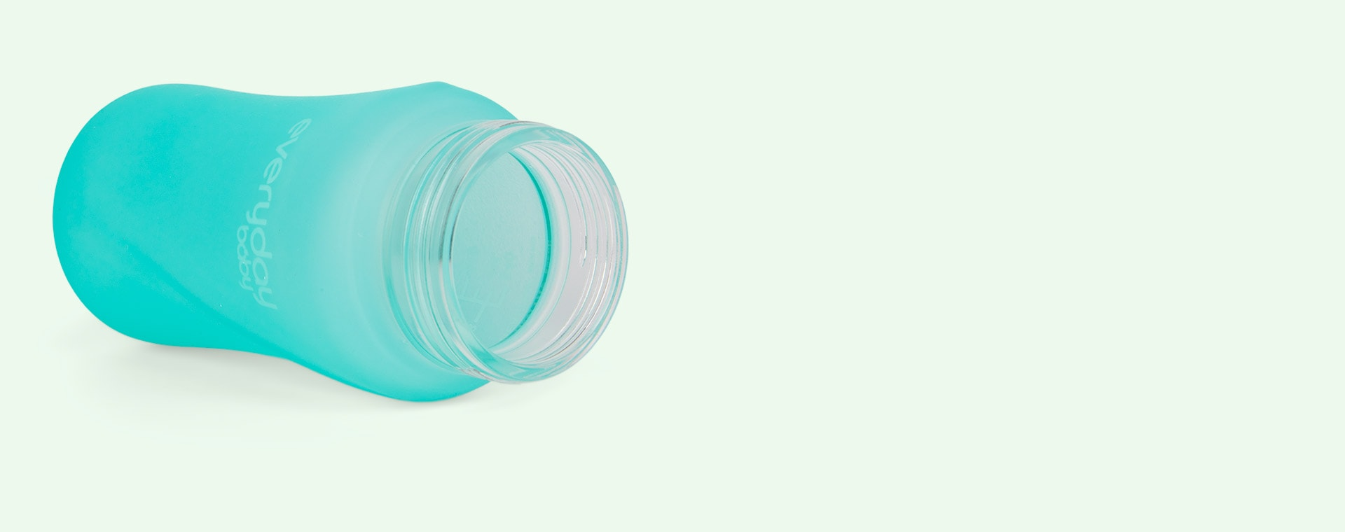 Mint Green Everyday Baby Glass Straw Bottle