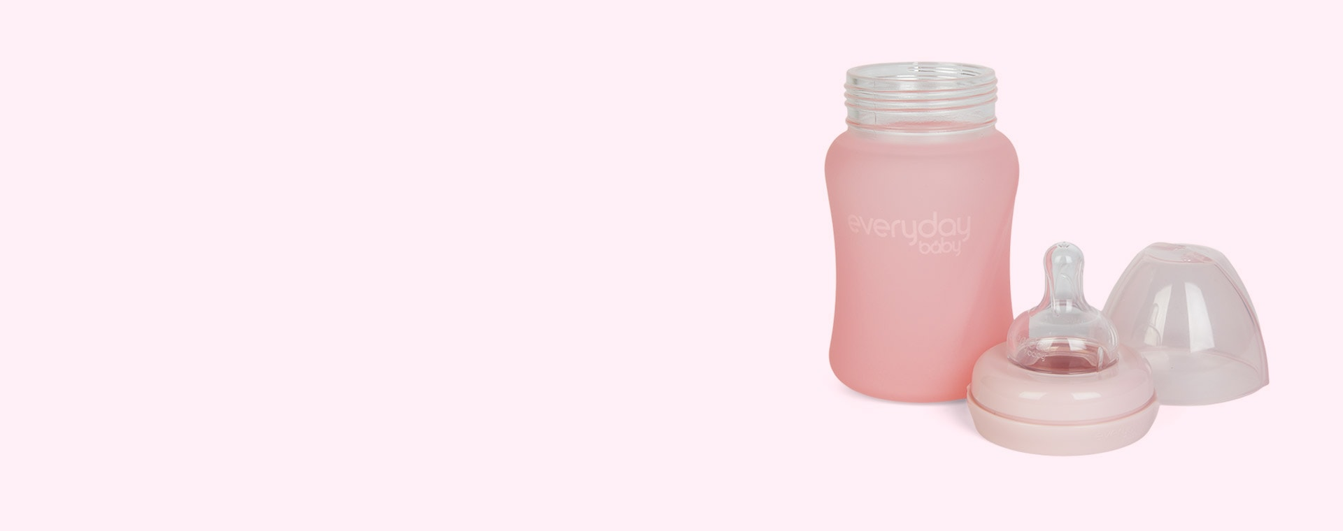 Rose Pink Everyday Baby Glass Baby Bottle 150ml