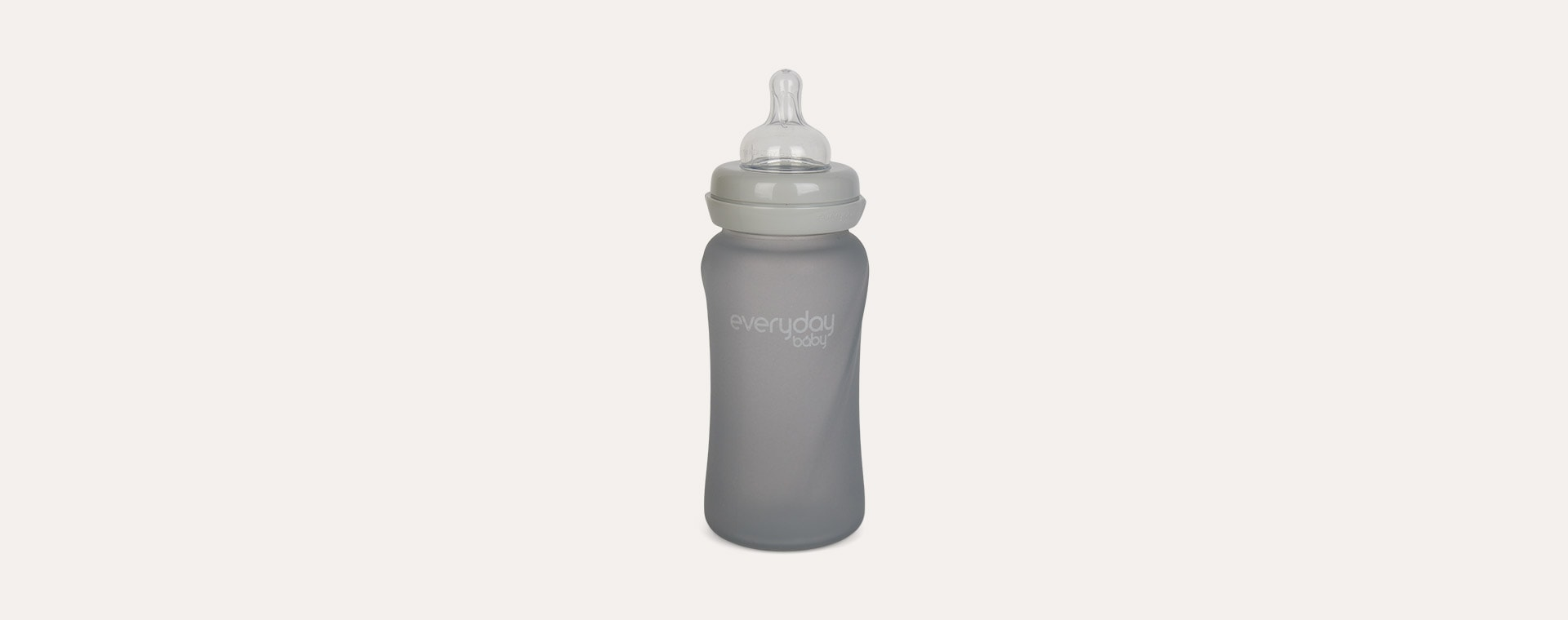 Grey Everyday Baby Glass Baby Bottle 240ml
