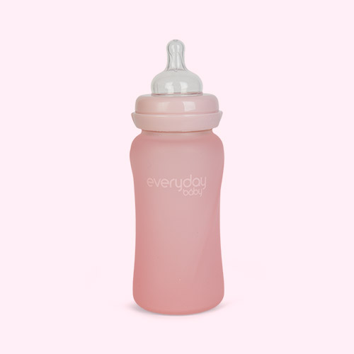 Rose Pink Everyday Baby Glass Baby Bottle 240ml