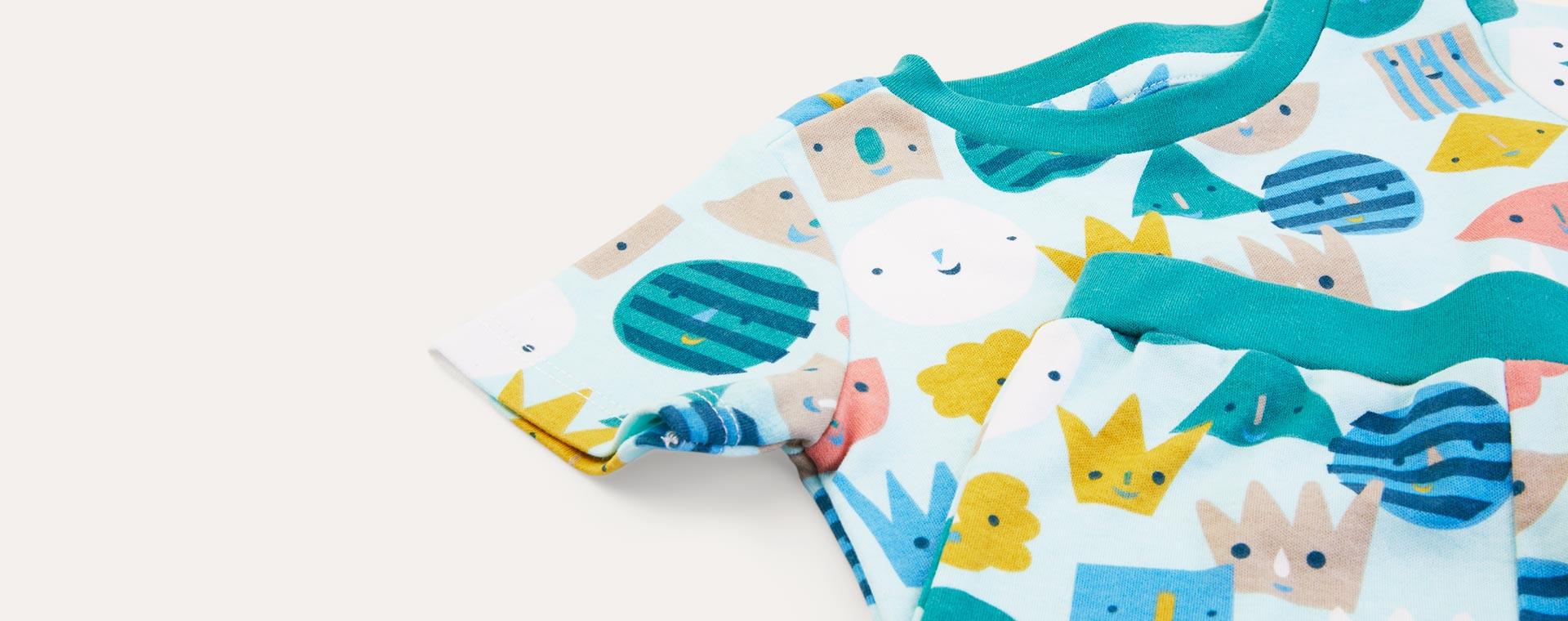 Blue Faces KIDLY Label Organic Short Sleeve Pyjamas
