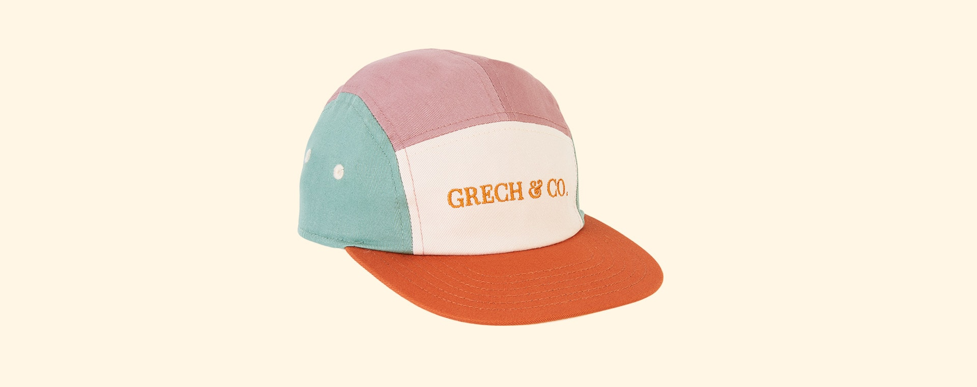 Burlwood and Shell Grech & Co Capsie Sun Cap