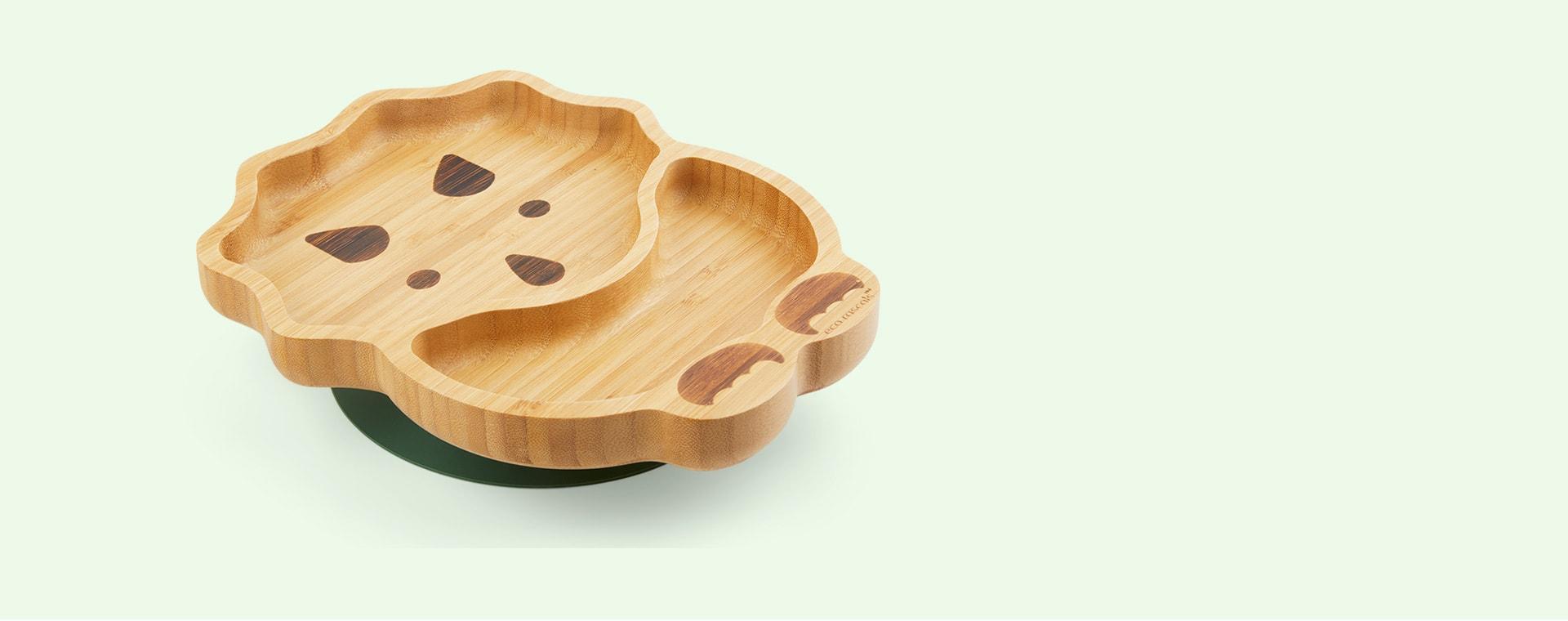 Green eco rascals Bamboo Suction Dinosaur Plate