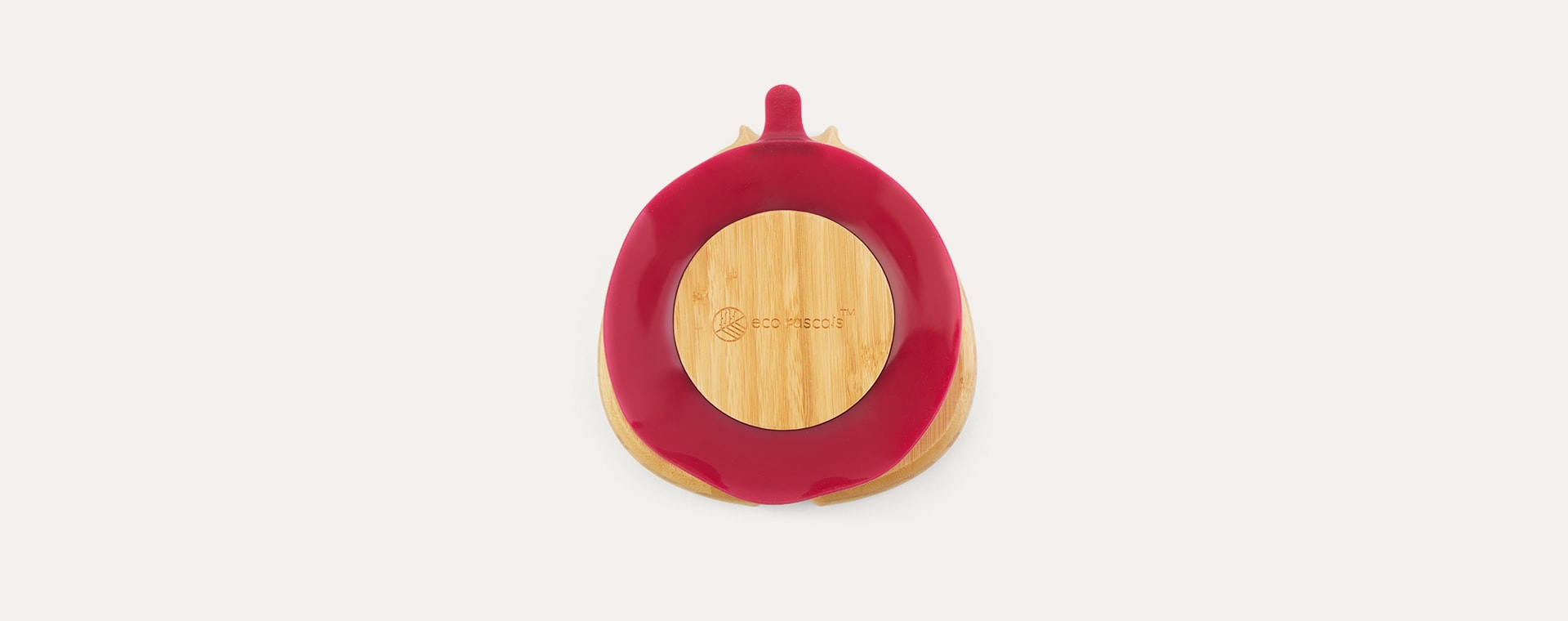Red eco rascals Bamboo Suction Ladybird Plate