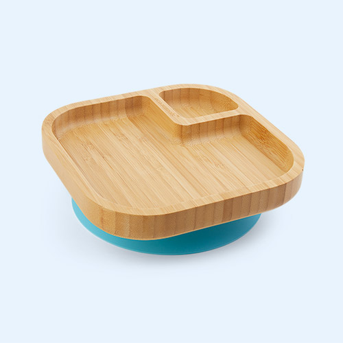 Blue eco rascals Bamboo Suction Baby Plate