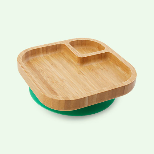 Green eco rascals Bamboo Suction Baby Plate