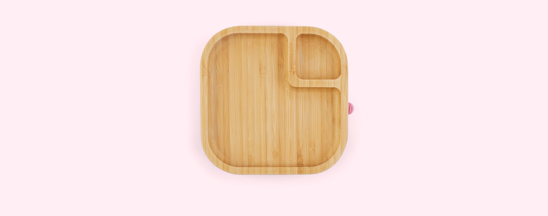 Pink eco rascals Bamboo Suction Baby Plate