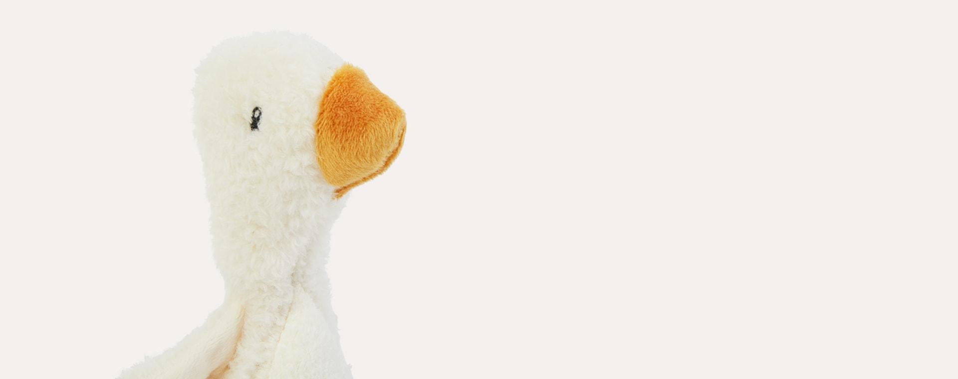 White Little Dutch Squeaker Little Goose