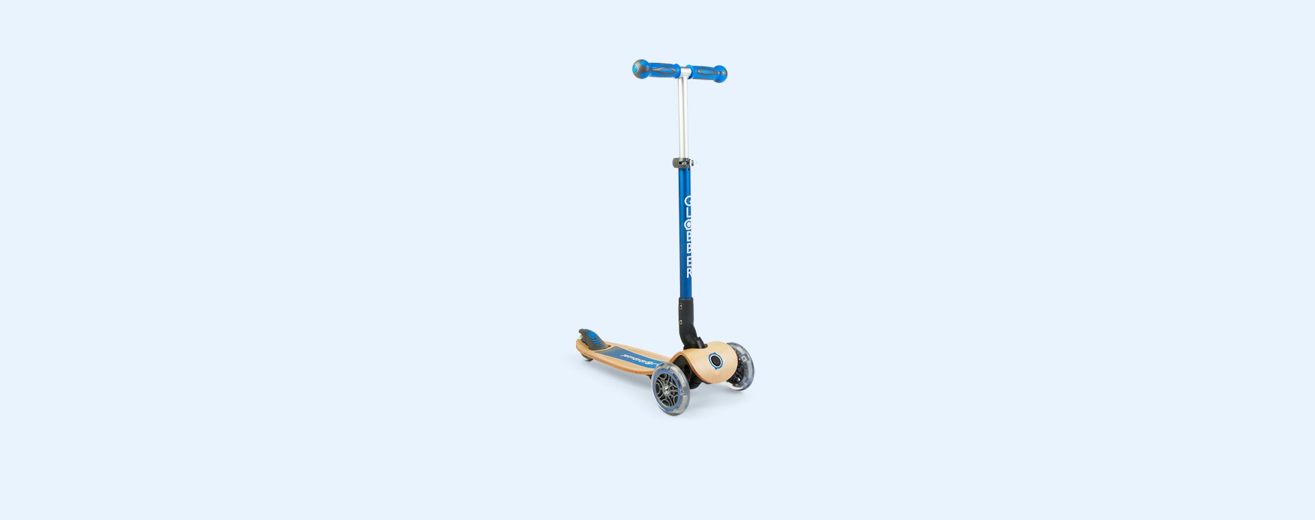 Navy Blue Globber Primo Foldable Wood Scooter