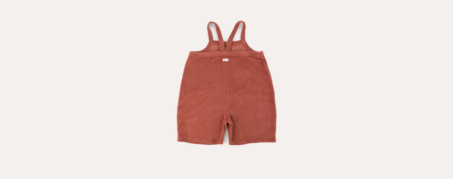 Deep Earth Organic Zoo Terry Cropped Dungarees