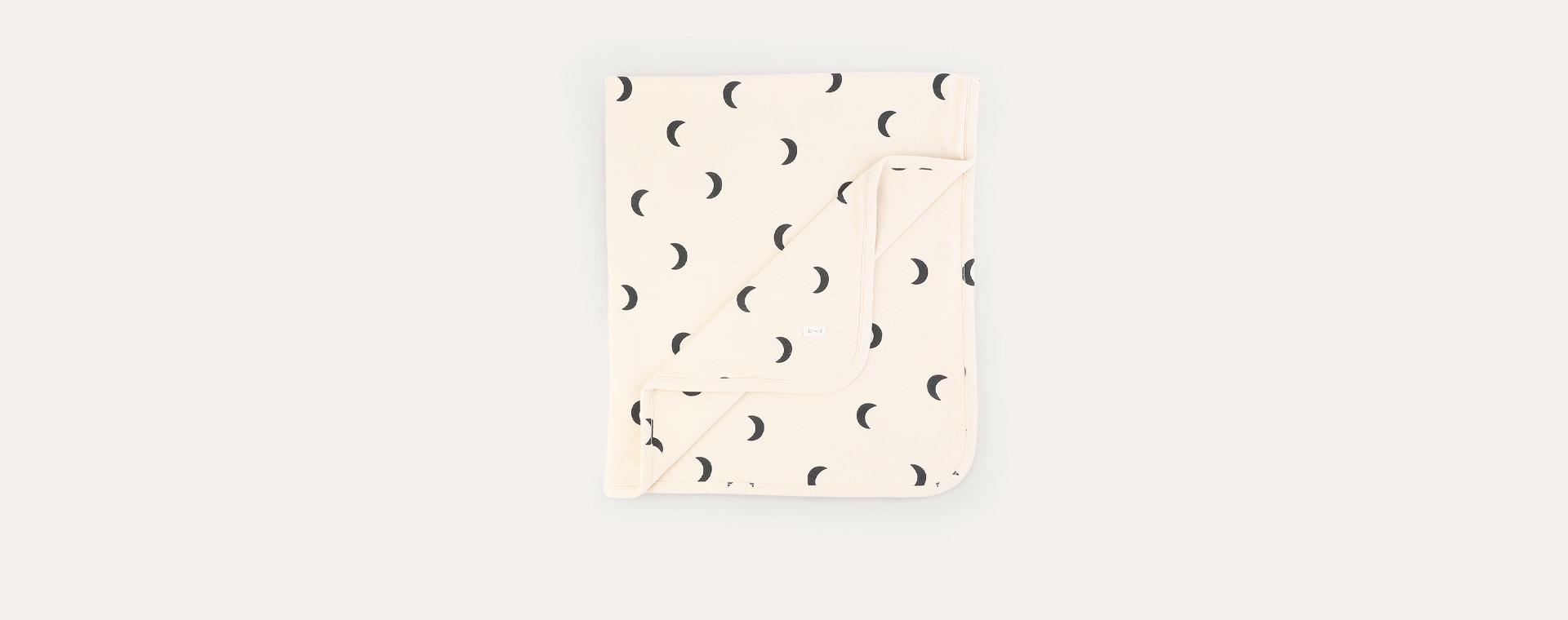 Pebble Midnight Organic Zoo Reversible Blanket