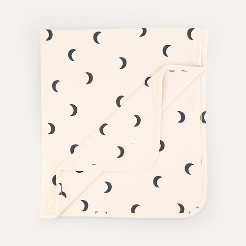 Pebble Midnight Organic Zoo Reversible Blanket