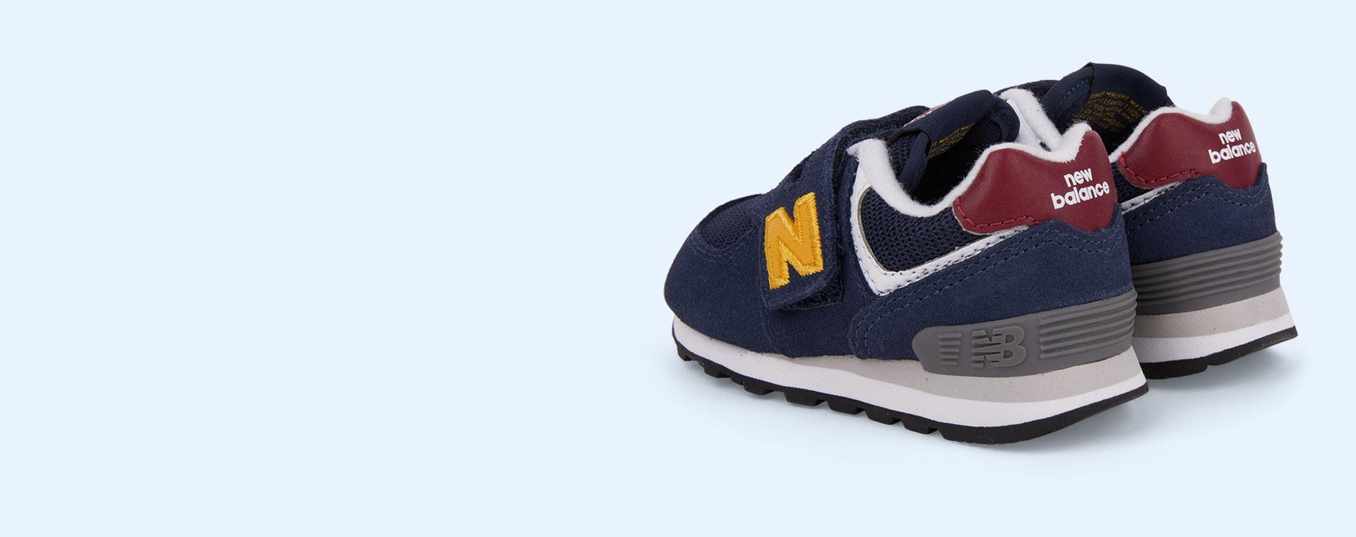 Navy/Yellow New Balance 574 Trainer