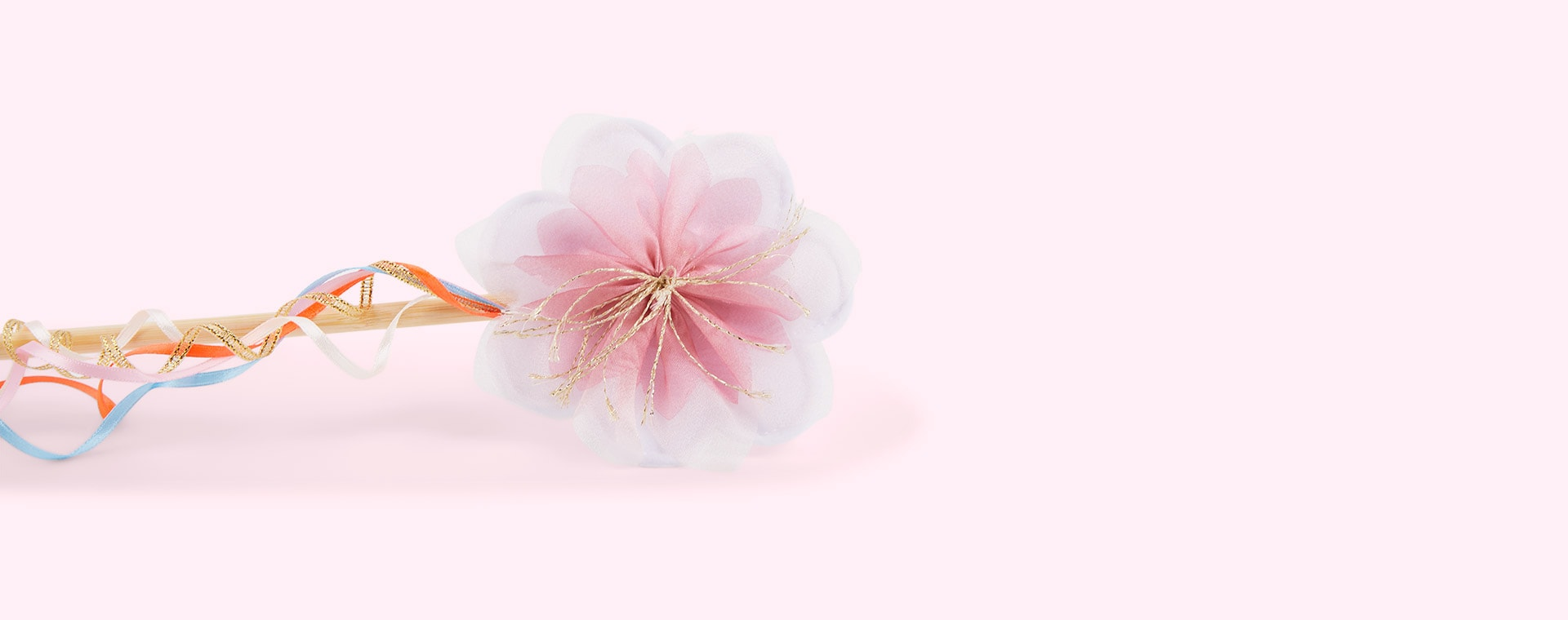 Multi Meri Meri Organza Flower Wings & Wand